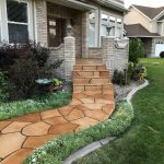 Grand Flagstone Front Porch Walkway Stairs