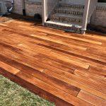 Rustic Concrete Wood Patio