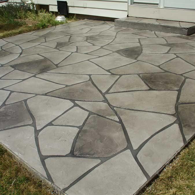 Grand Flagstone Concrete Patio